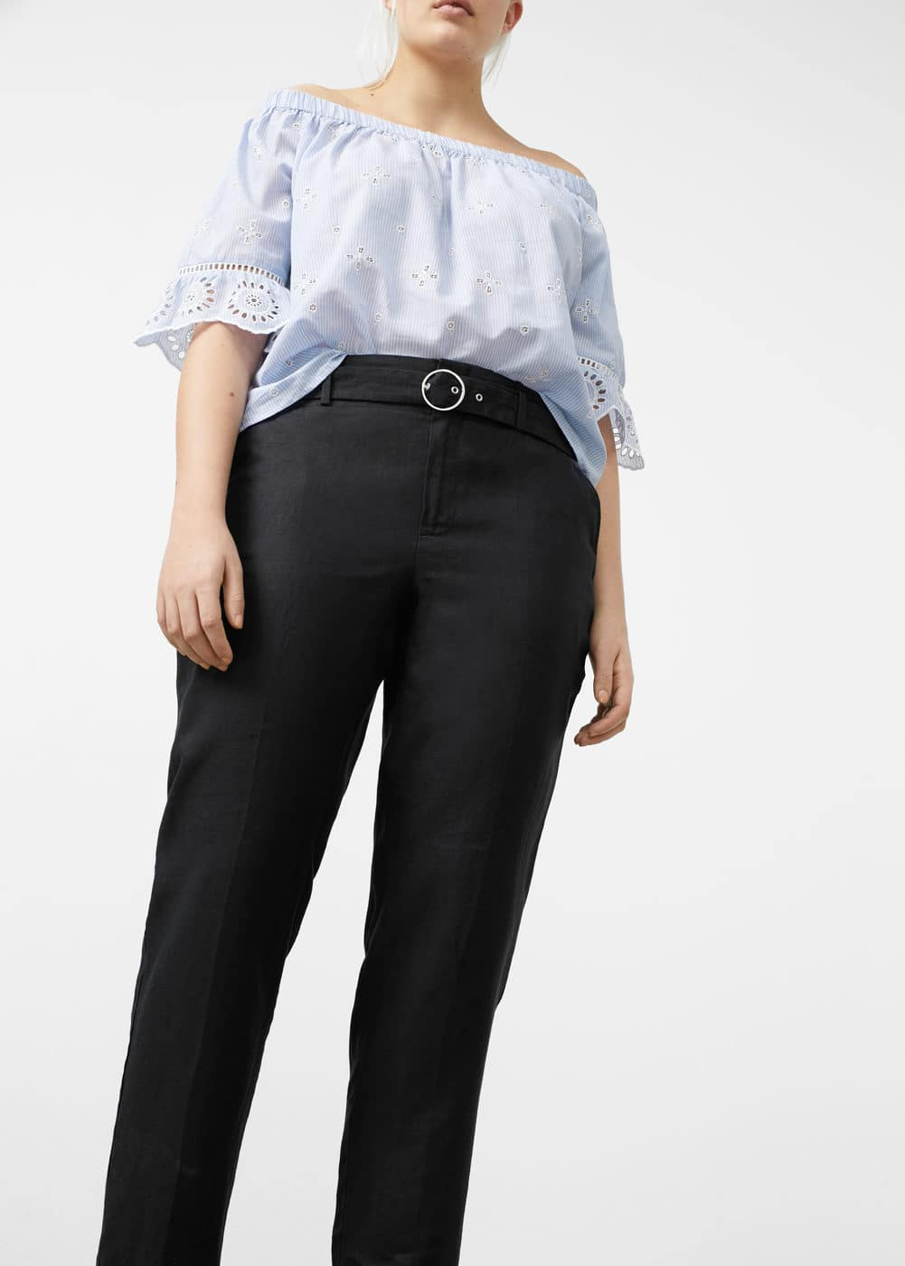 Belt line trousers | VIOLETA BY MANGO