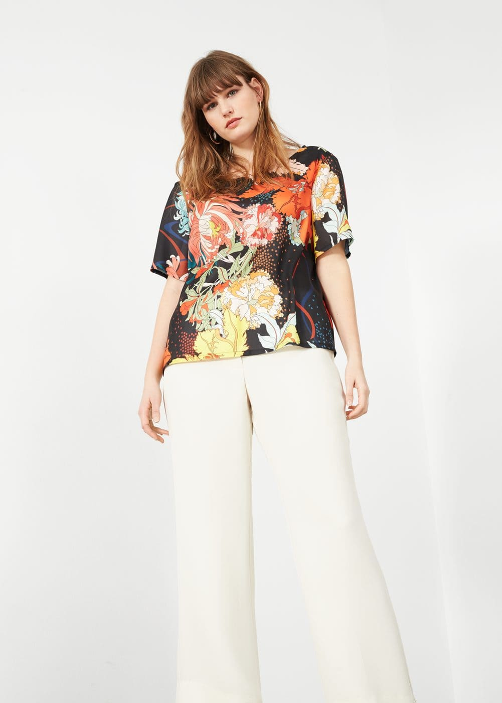 Flowy printed blouse | VIOLETA BY MNG