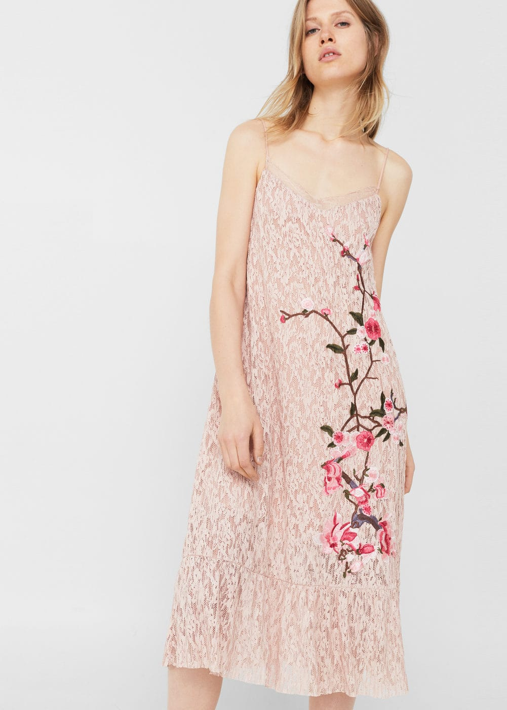 Embroidered lace dress | MNG