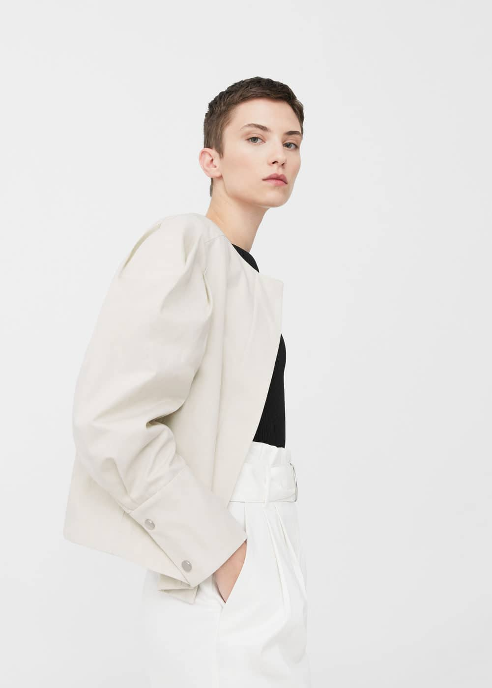Puffed sleeves jacket | MANGO