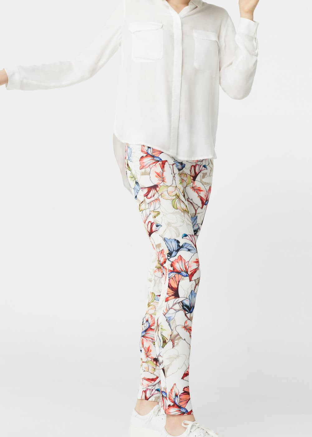 Leggings estampat floral | MANGO