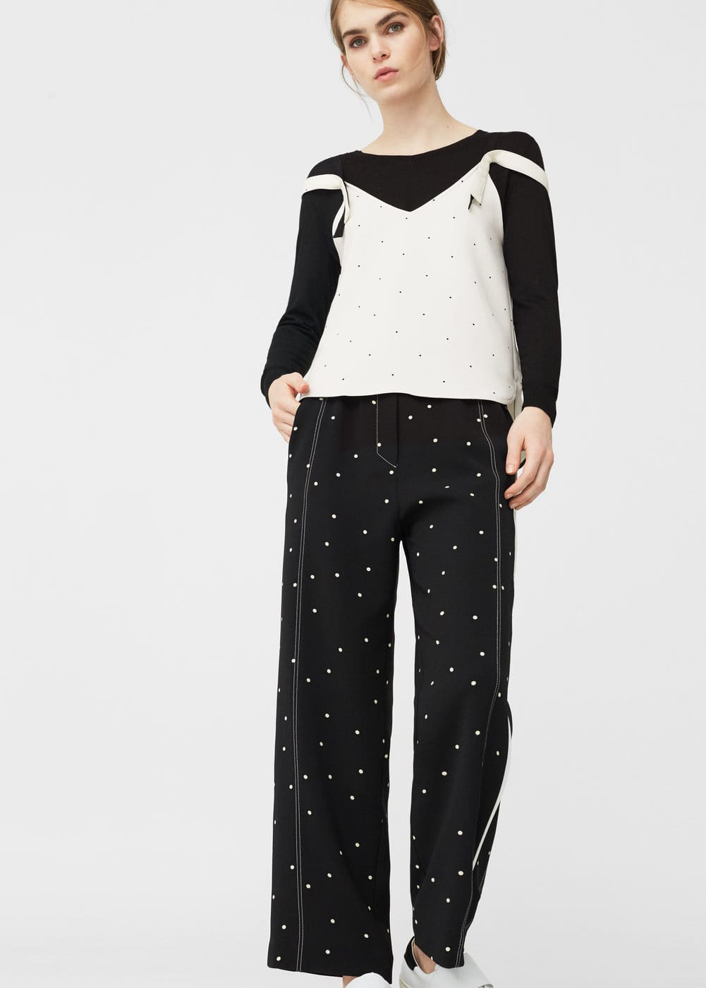 Polka-dot trousers | MNG