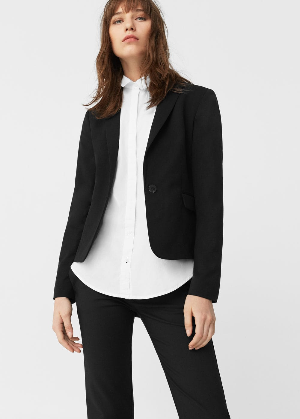 Patterned suit blazer | MANGO