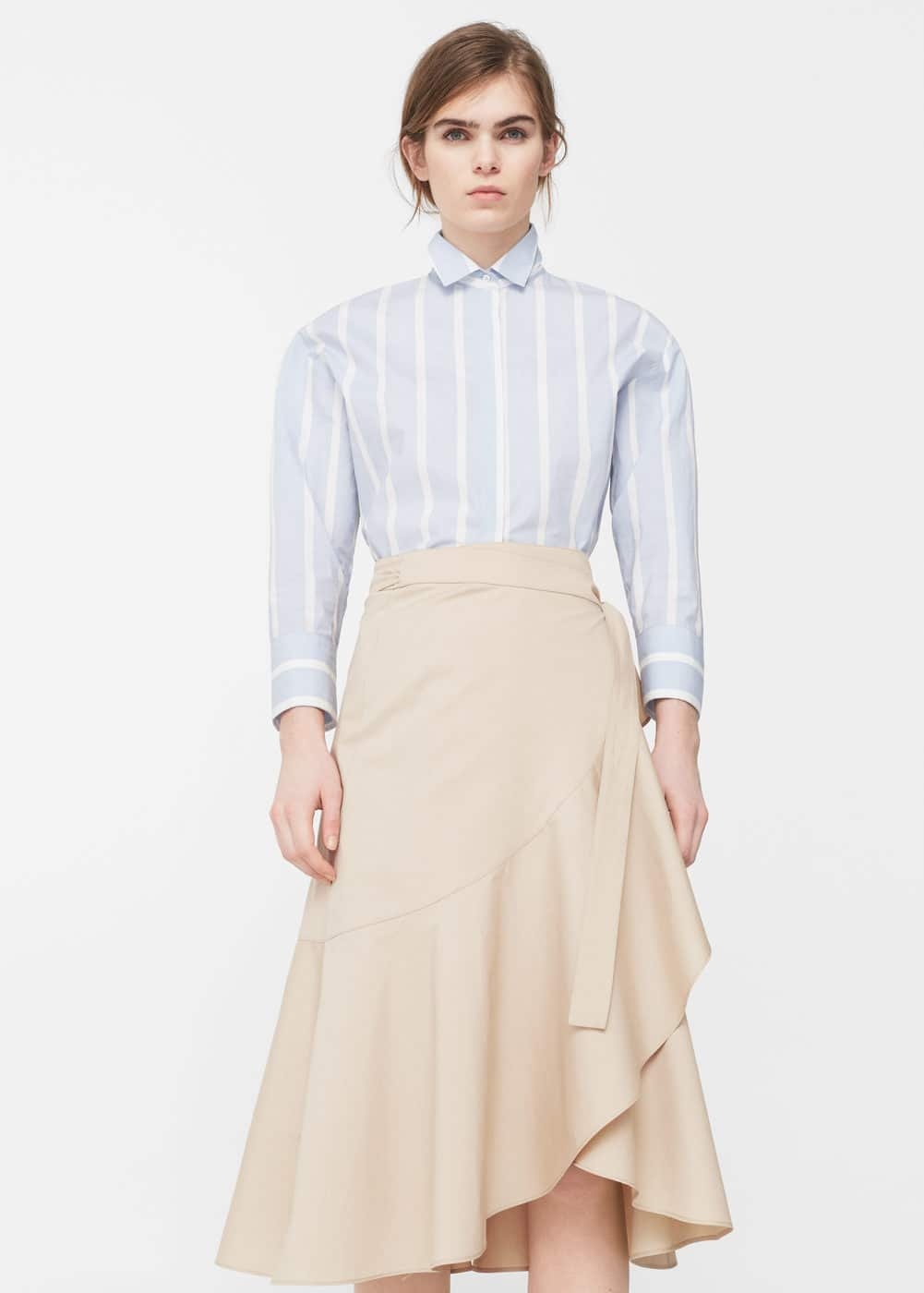 Midi ruffled skirt | MANGO