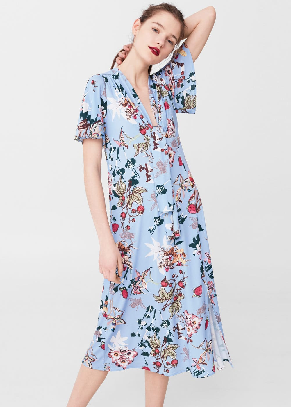 Floral-print flowy dress | MNG