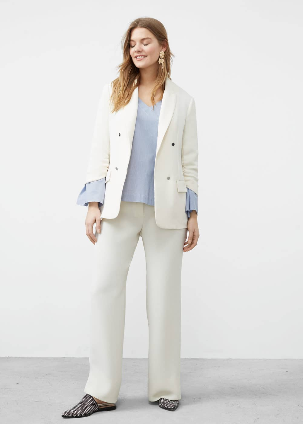 Ruched sleeves blazer | VIOLETA BY MNG
