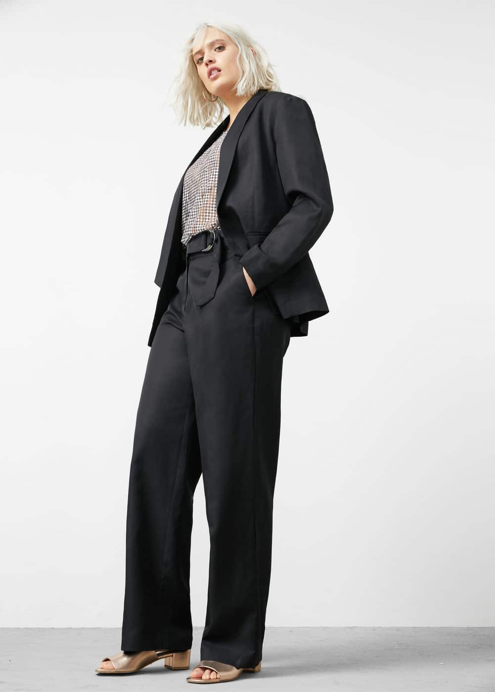 Linen cotton-blend blazer | VIOLETA BY MANGO