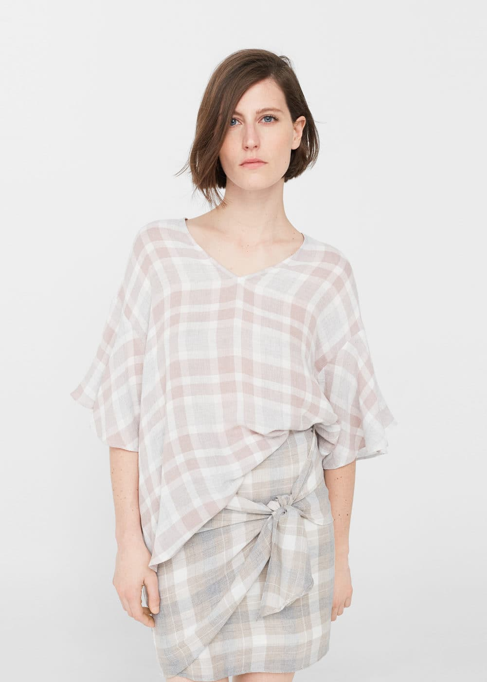 Check blouse | MANGO