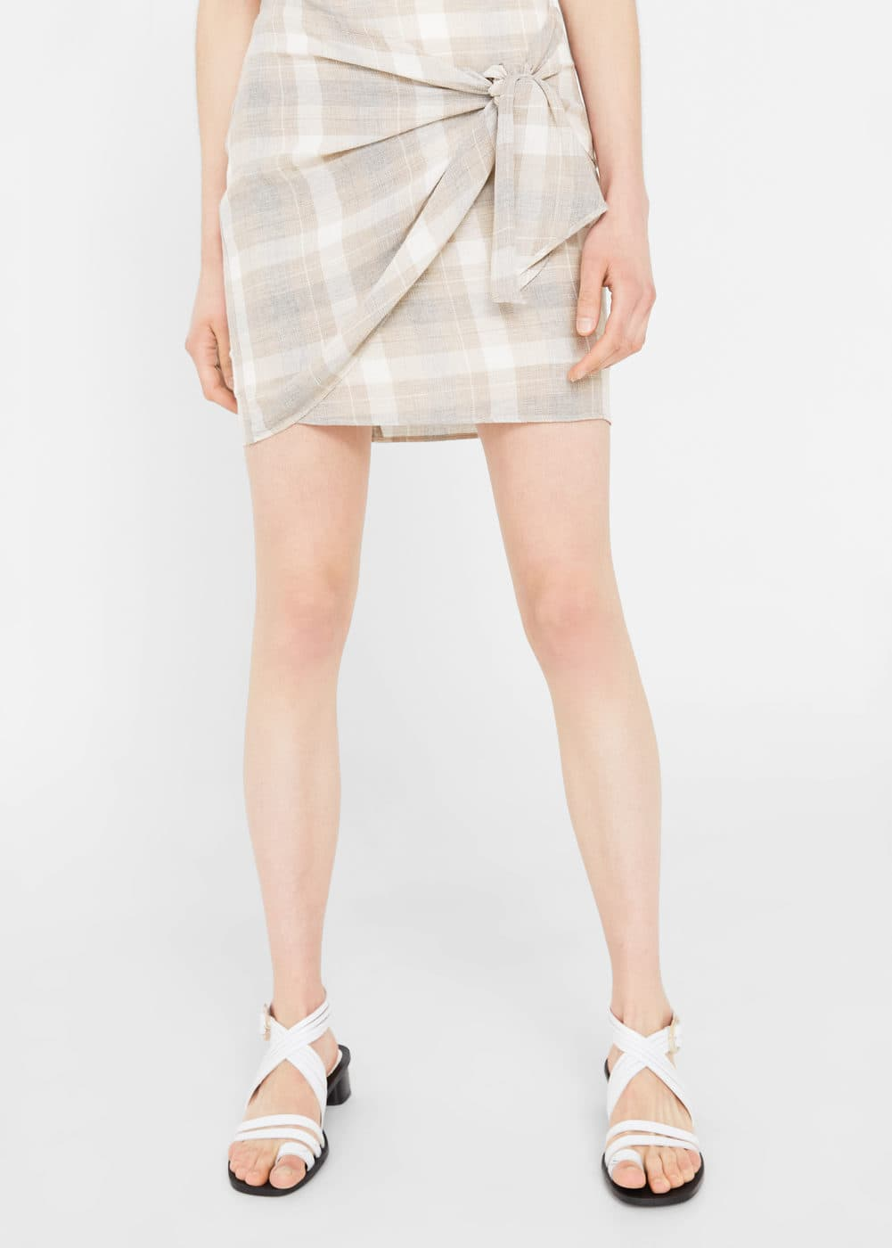 Knot checked skirt | MANGO