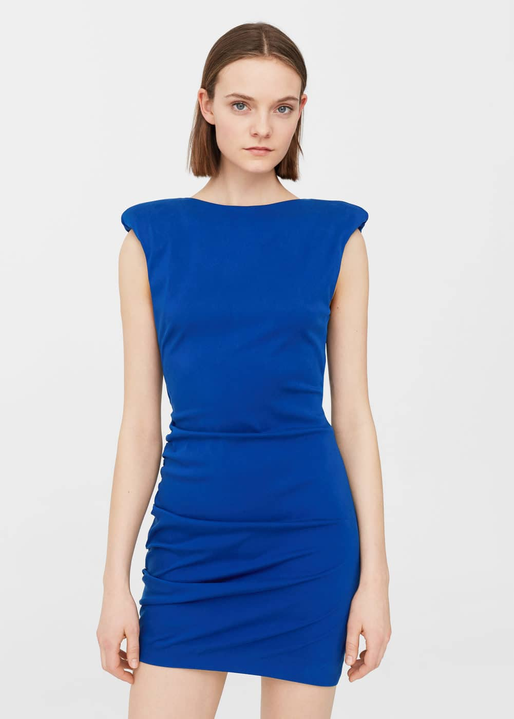 Shoulder pad dress | MANGO