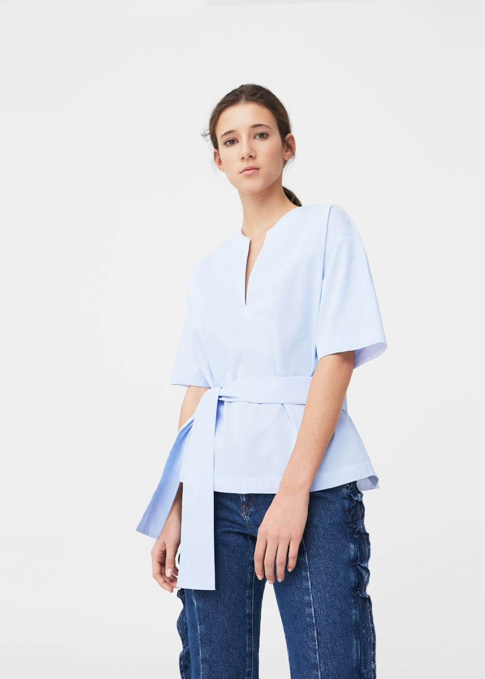 Bow waist blouse | MNG