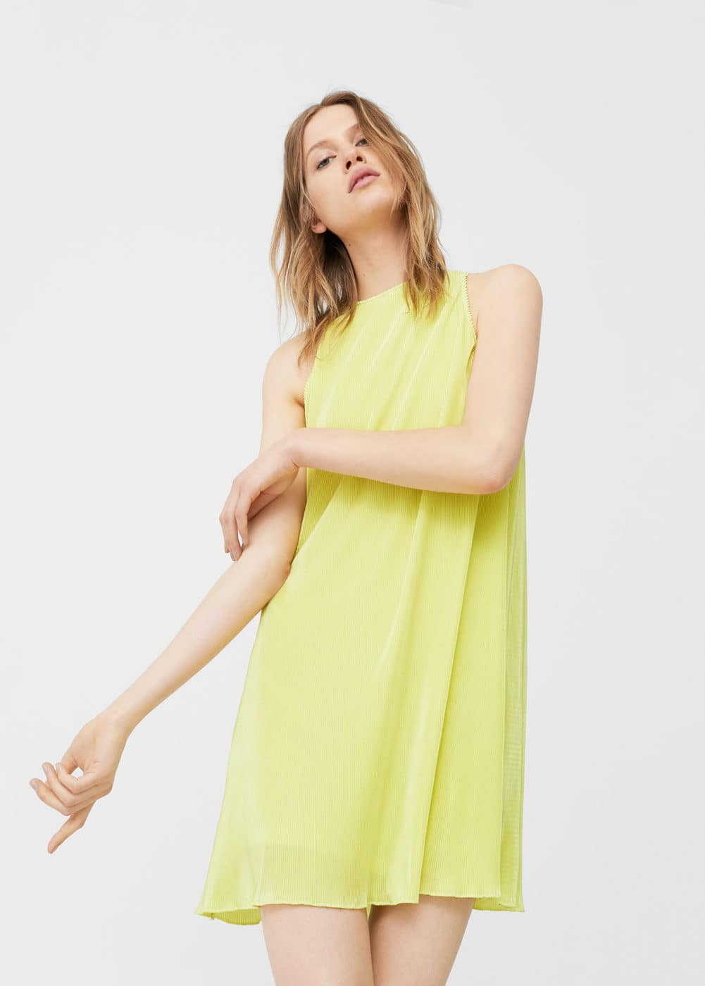 Pleated detail dress | MANGO