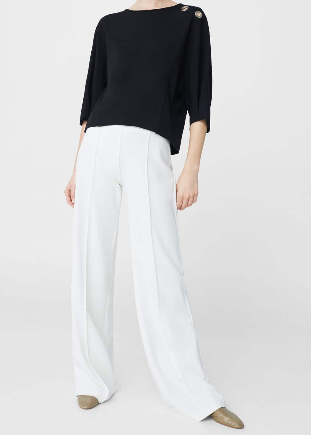 Flowy straight-fit trousers | MANGO