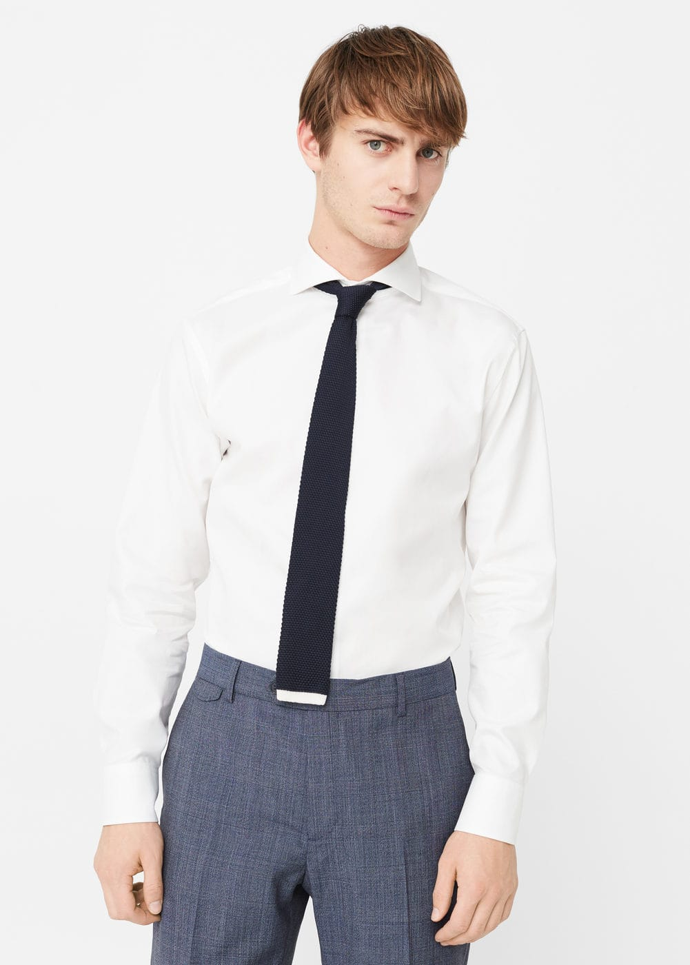 Camisa tailored slim cotó | MANGO