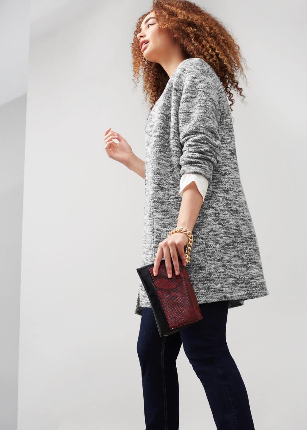 Flecked cotton-blend jacket | VIOLETA BY MNG