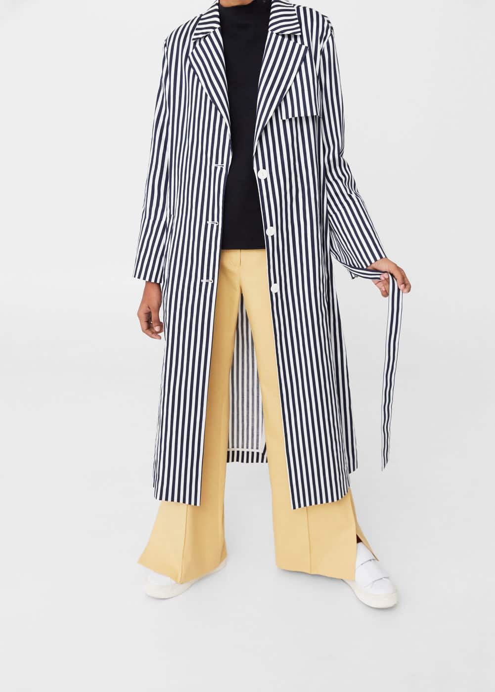 Stripes cotton trench | MANGO