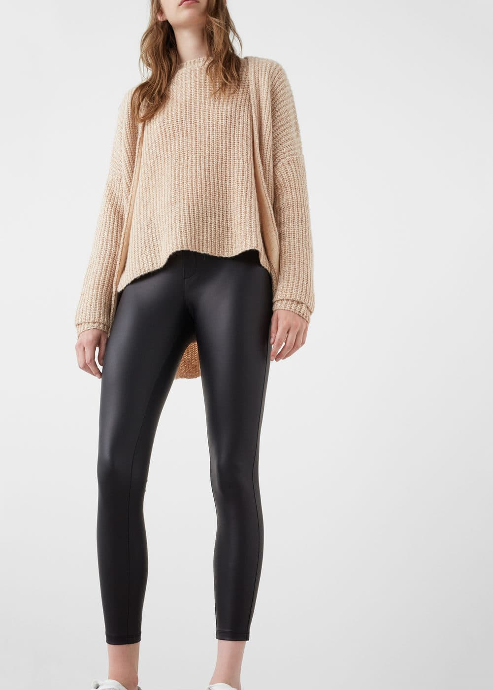 Glossed-effect leggings | MNG