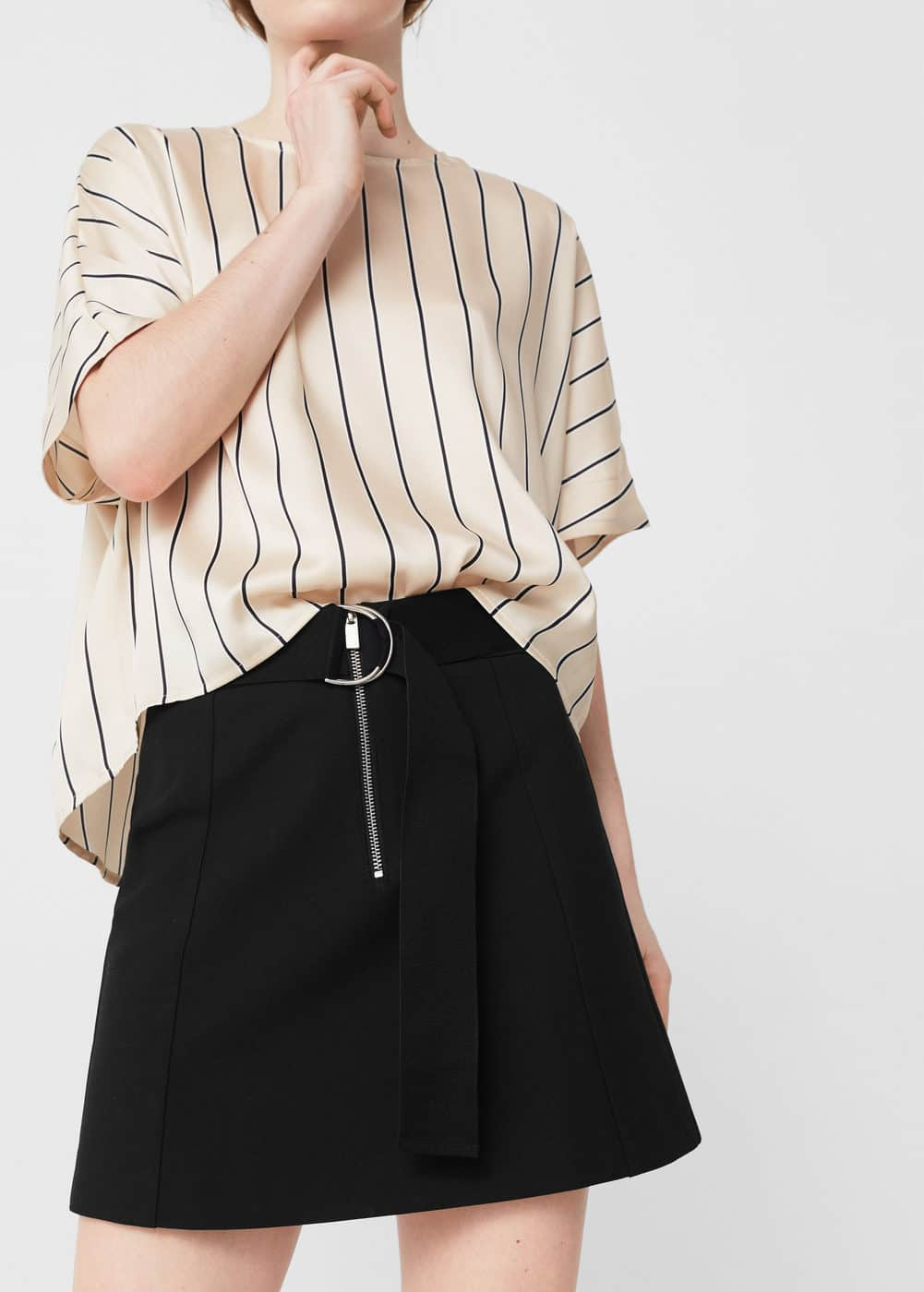Zip skirt | MANGO