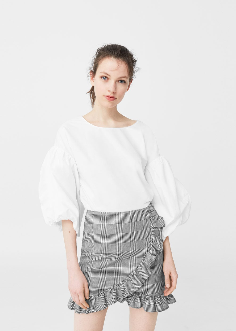Houndstooth skirt | MANGO