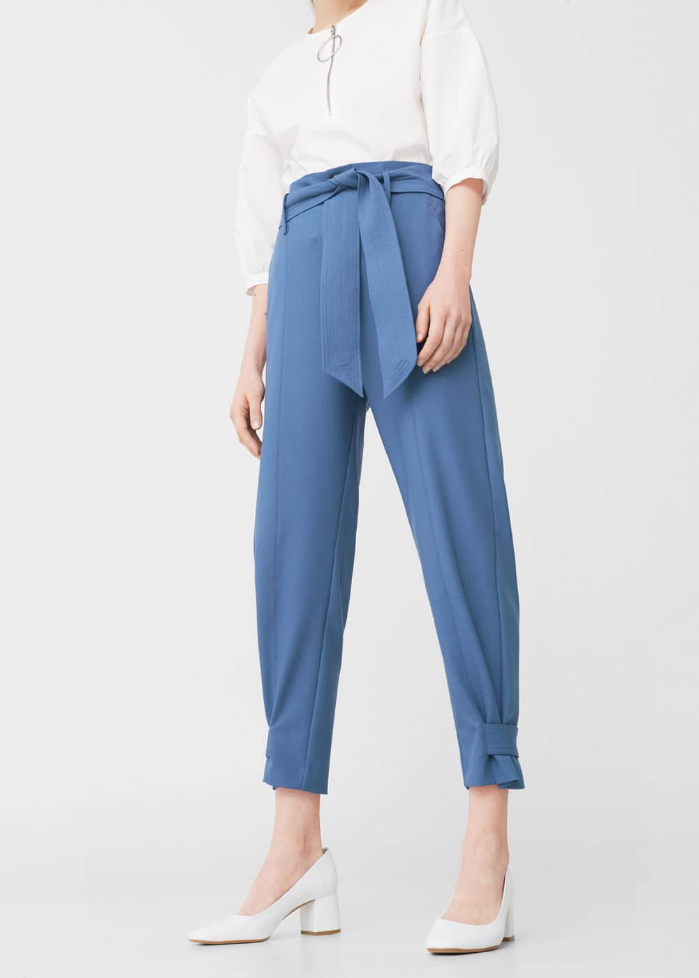 Bow belt trousers | MANGO