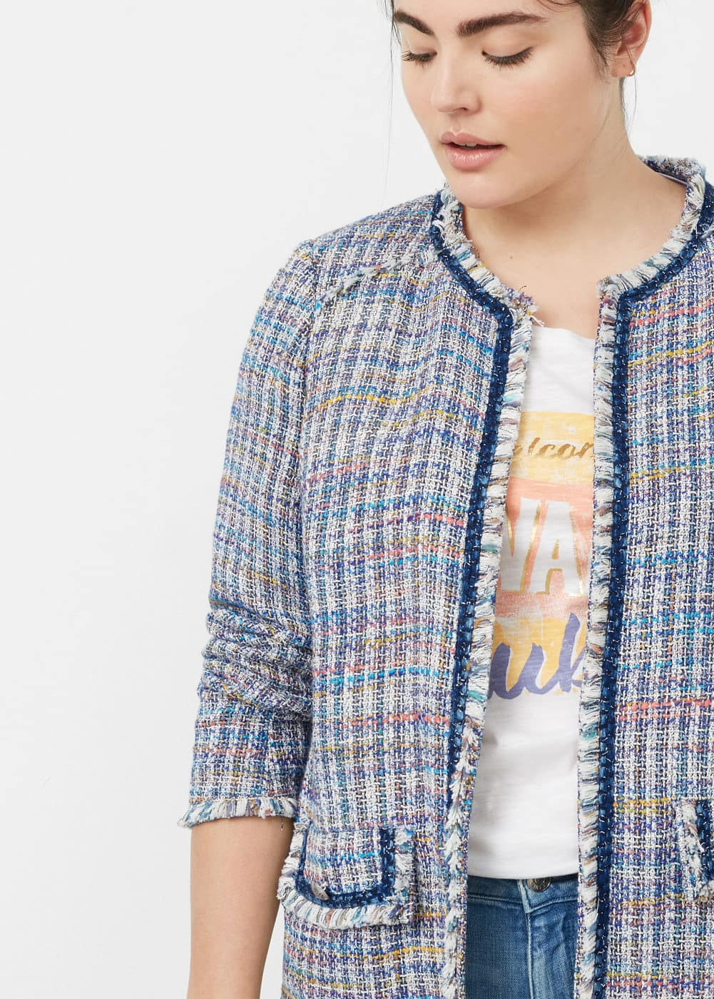 Pocket tweed jacket | VIOLETA BY MANGO