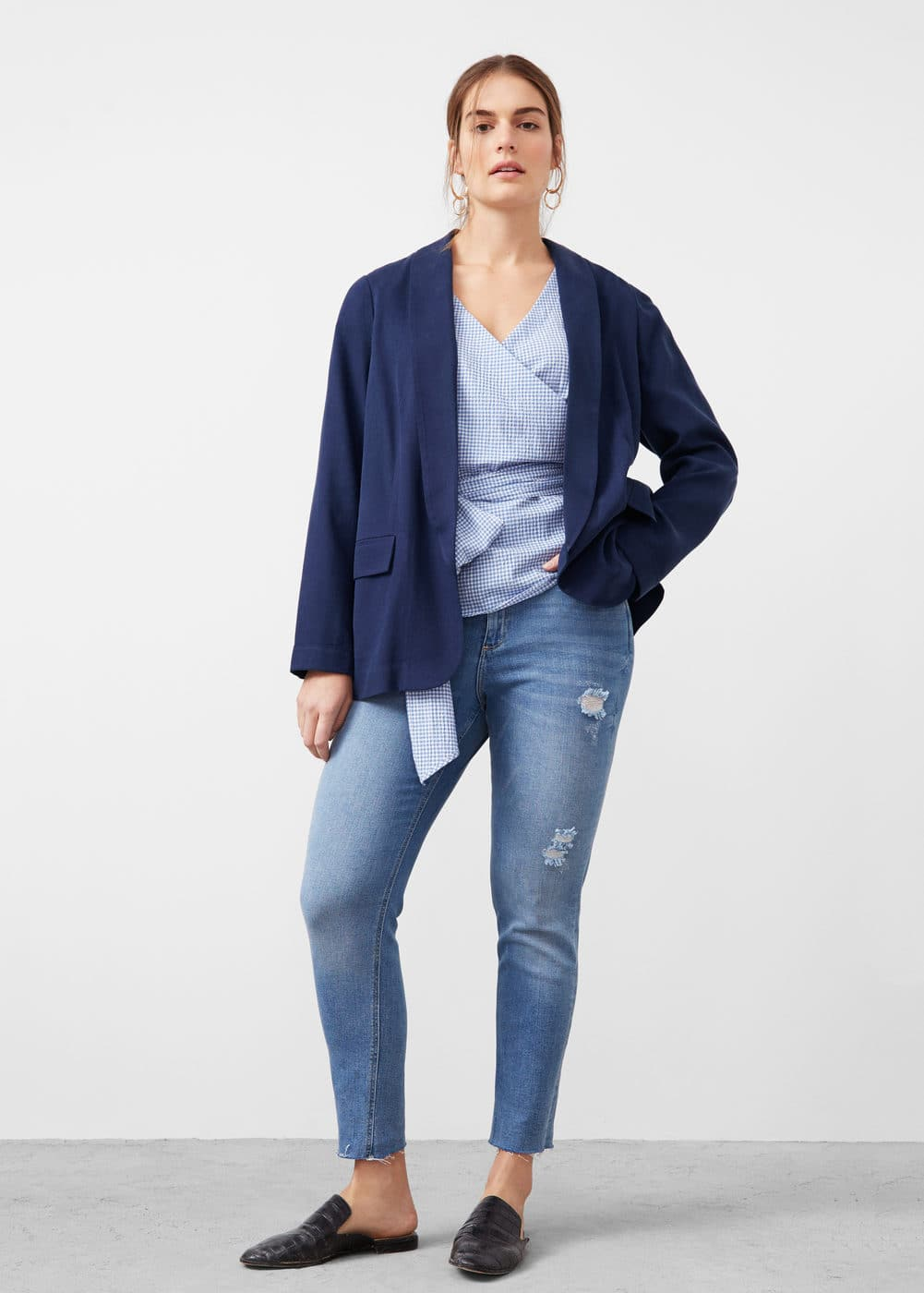 Tencel® fabric blazer | VIOLETA BY MANGO