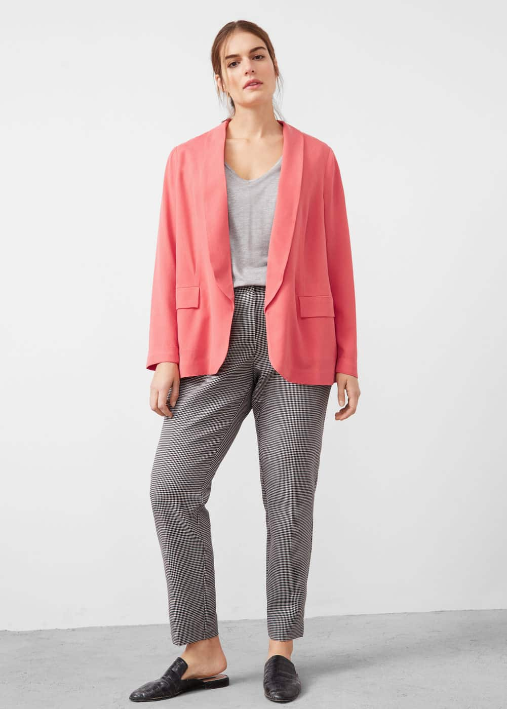 Soft fabric jacket | VIOLETA BY MANGO