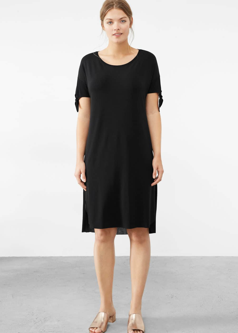 Knot detail contrast dress | VIOLETA BY MANGO