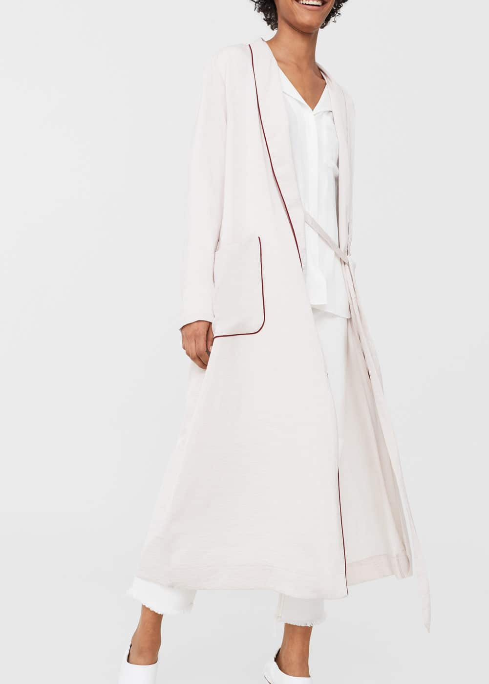 Satined robe | MANGO