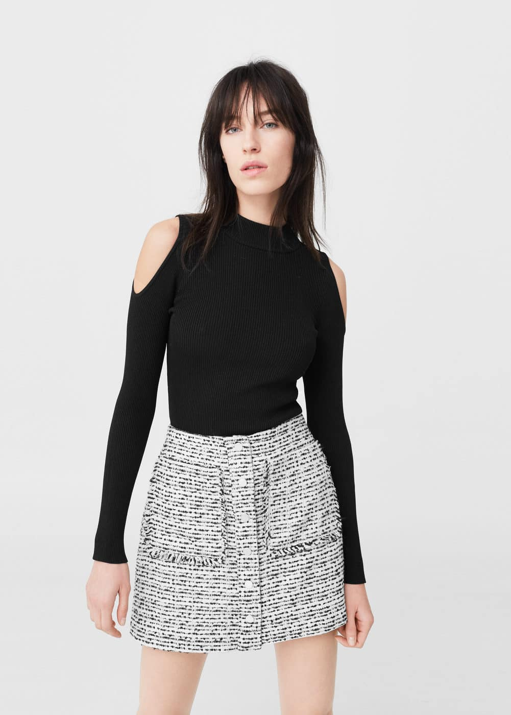 Tweed skirt | MANGO