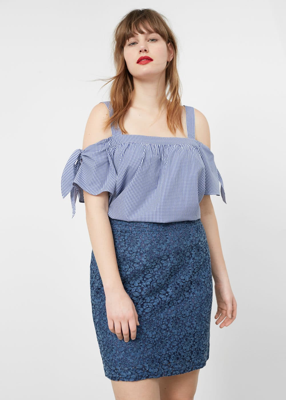 Guipure skirt | VIOLETA BY MNG