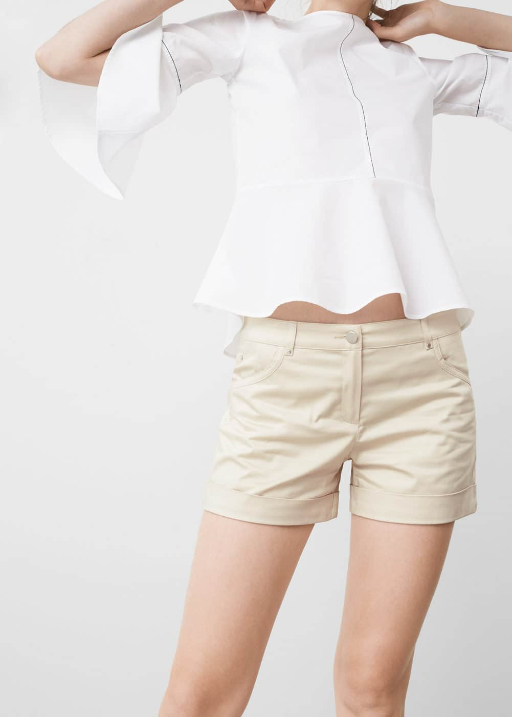 Cotton-blend shorts | MNG