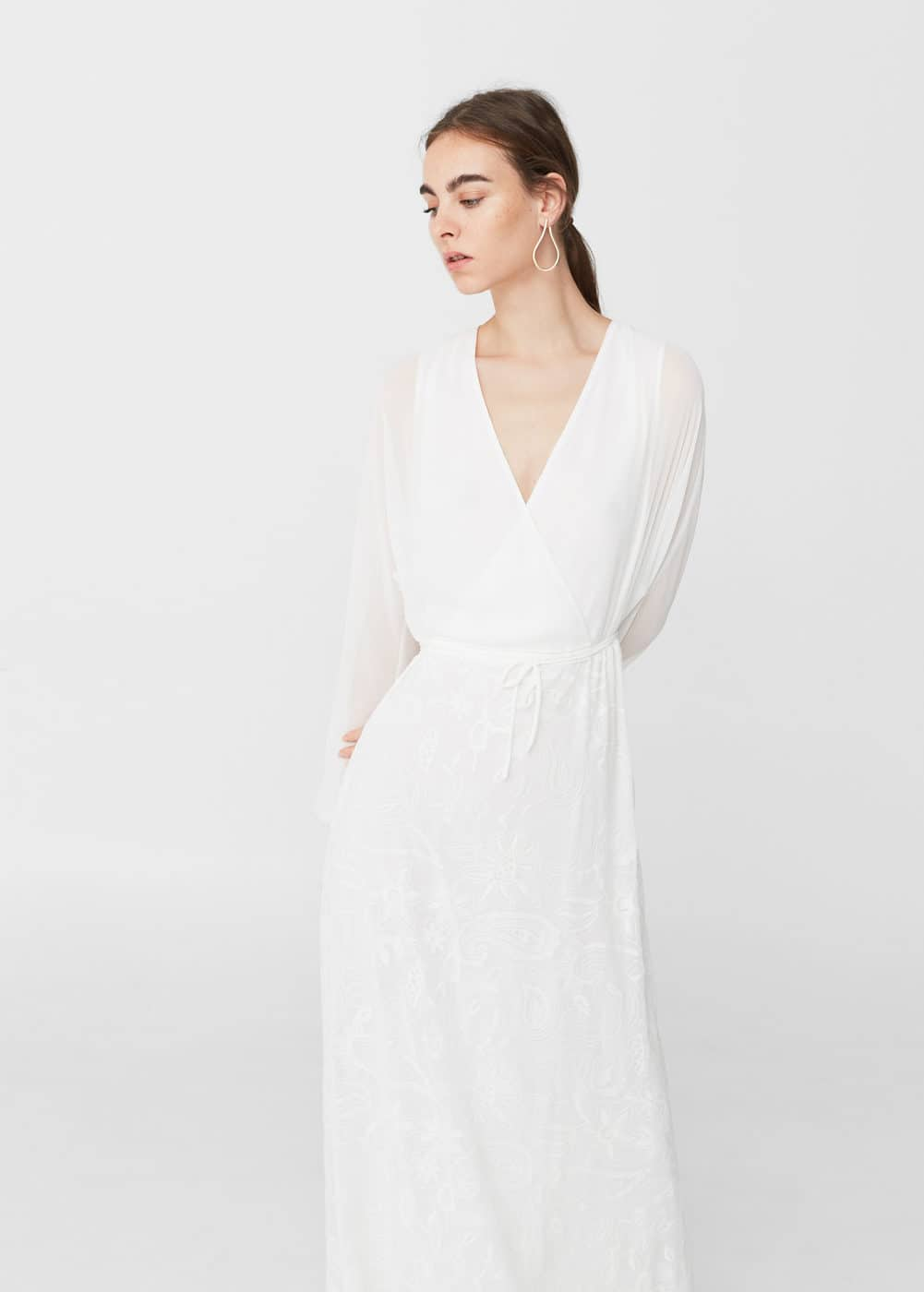 Embroidered long dress | MNG