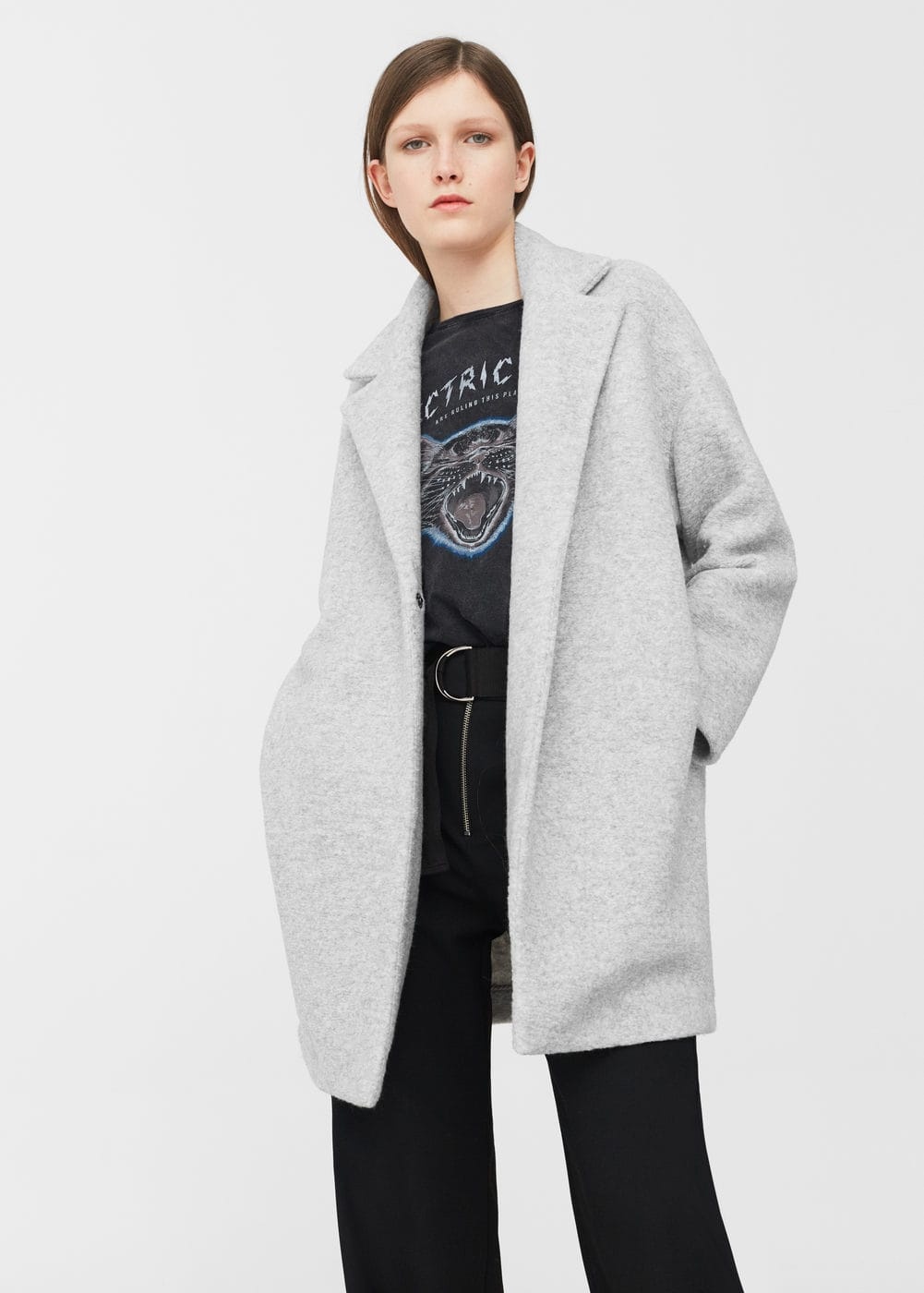 Lapels wool coat | MANGO
