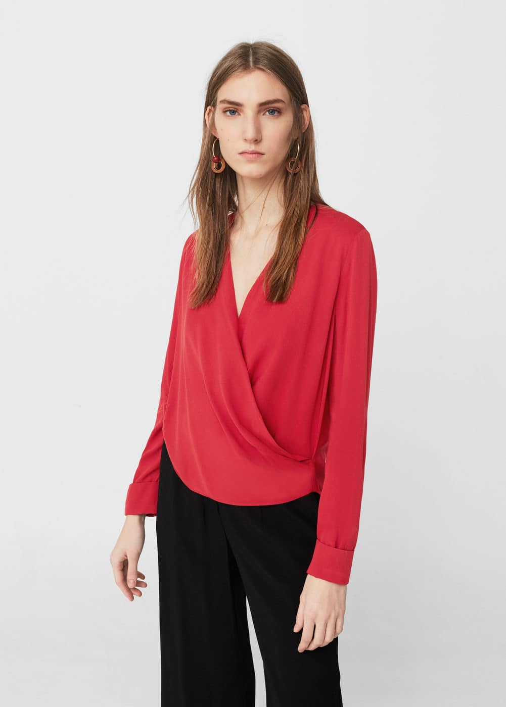 Draped blouse | MANGO
