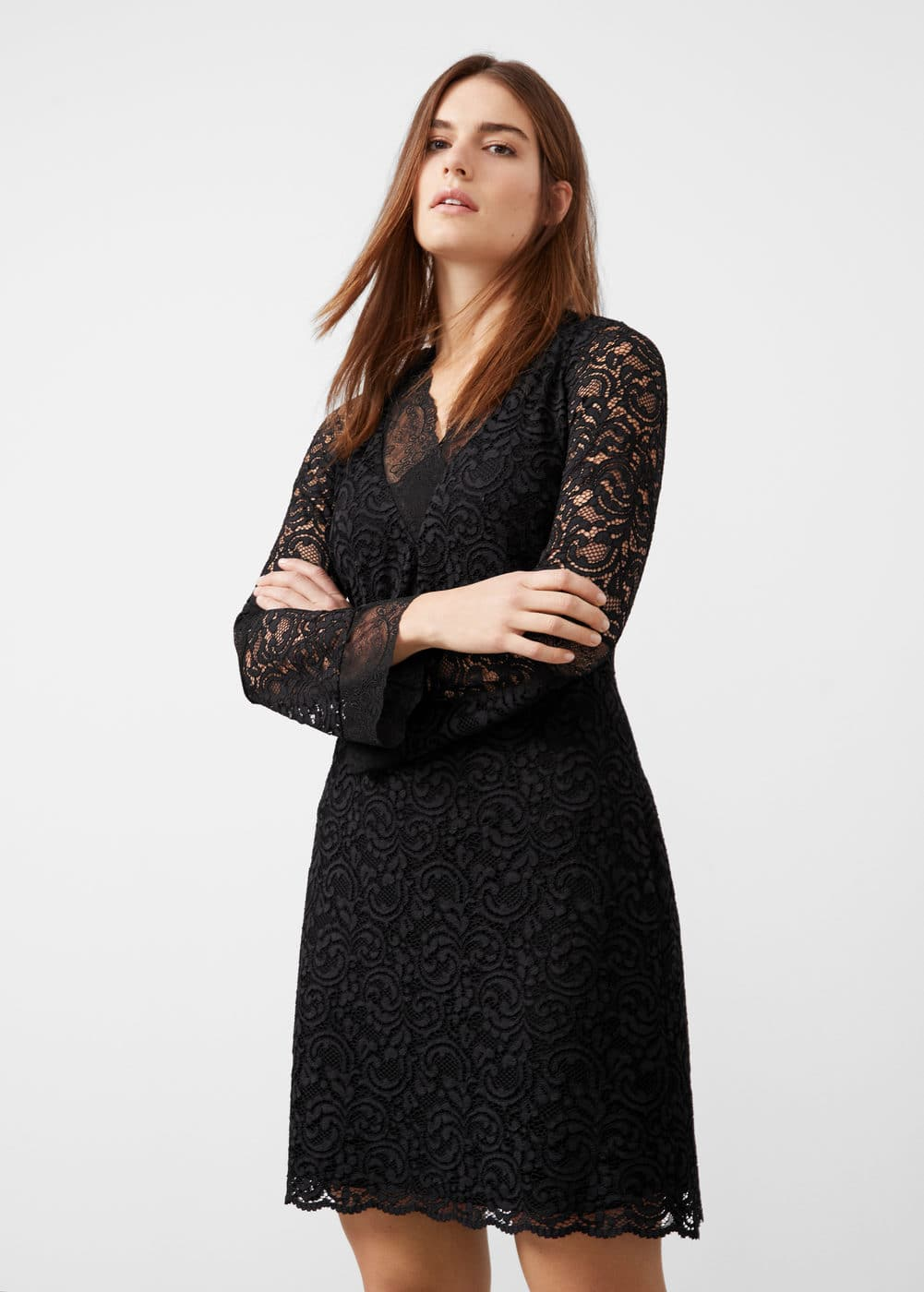 Lace dress | VIOLETA BY MANGO