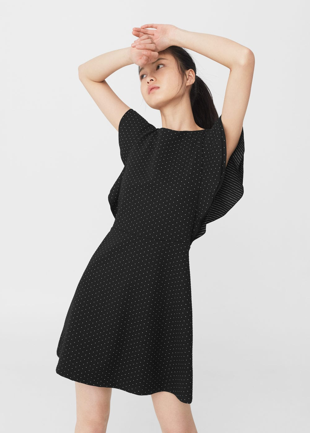Textured ruffled dress | MANGO