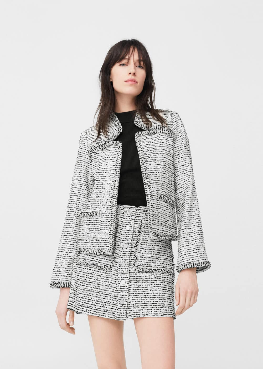 Tweed jacket | MANGO