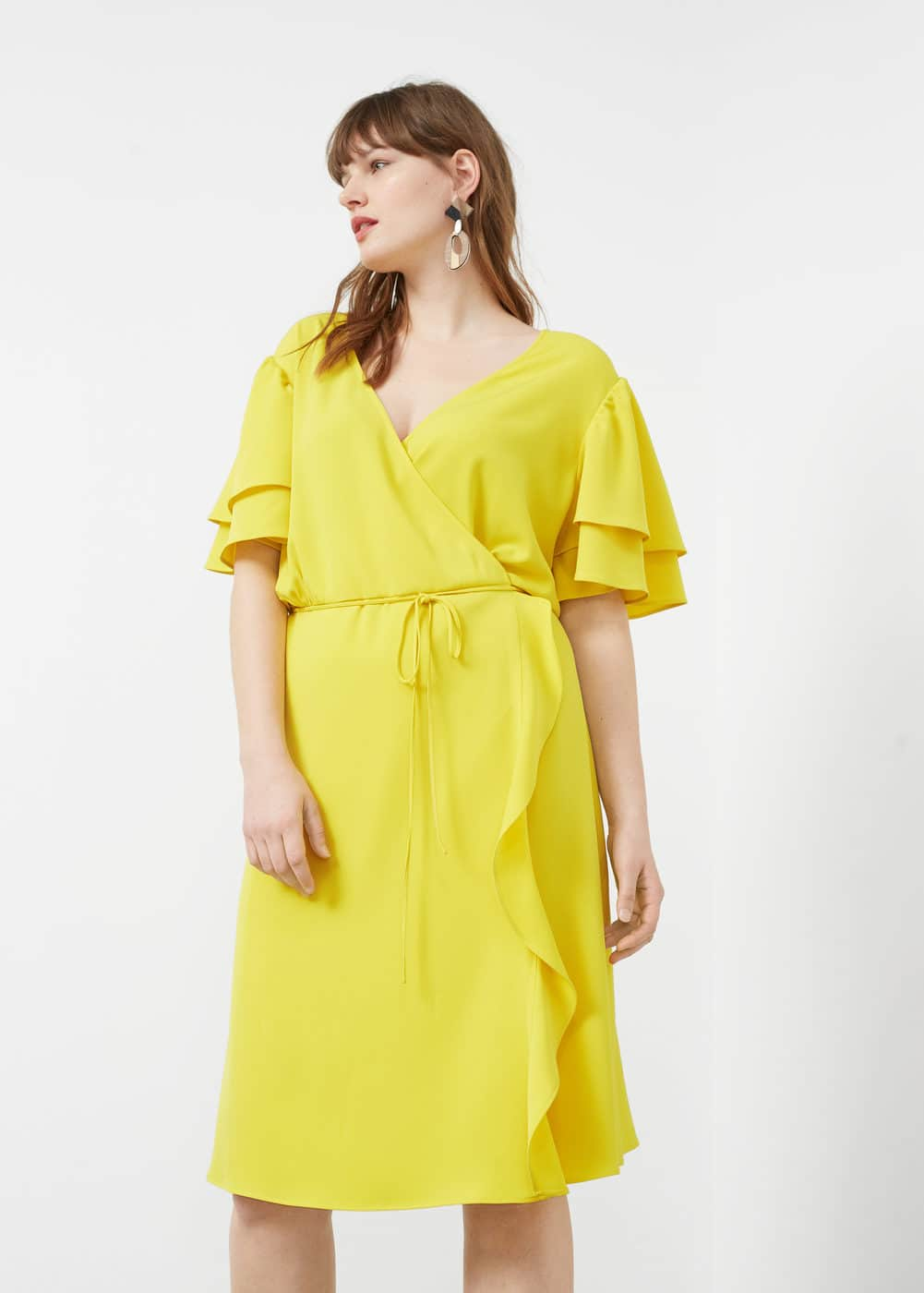 Wrap neckline dress | VIOLETA BY MANGO