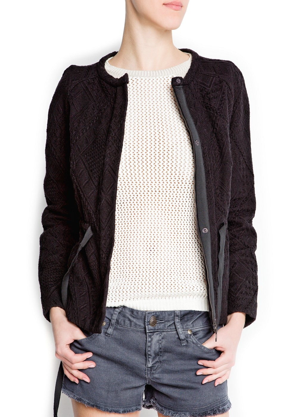 Textured jacket | MANGO