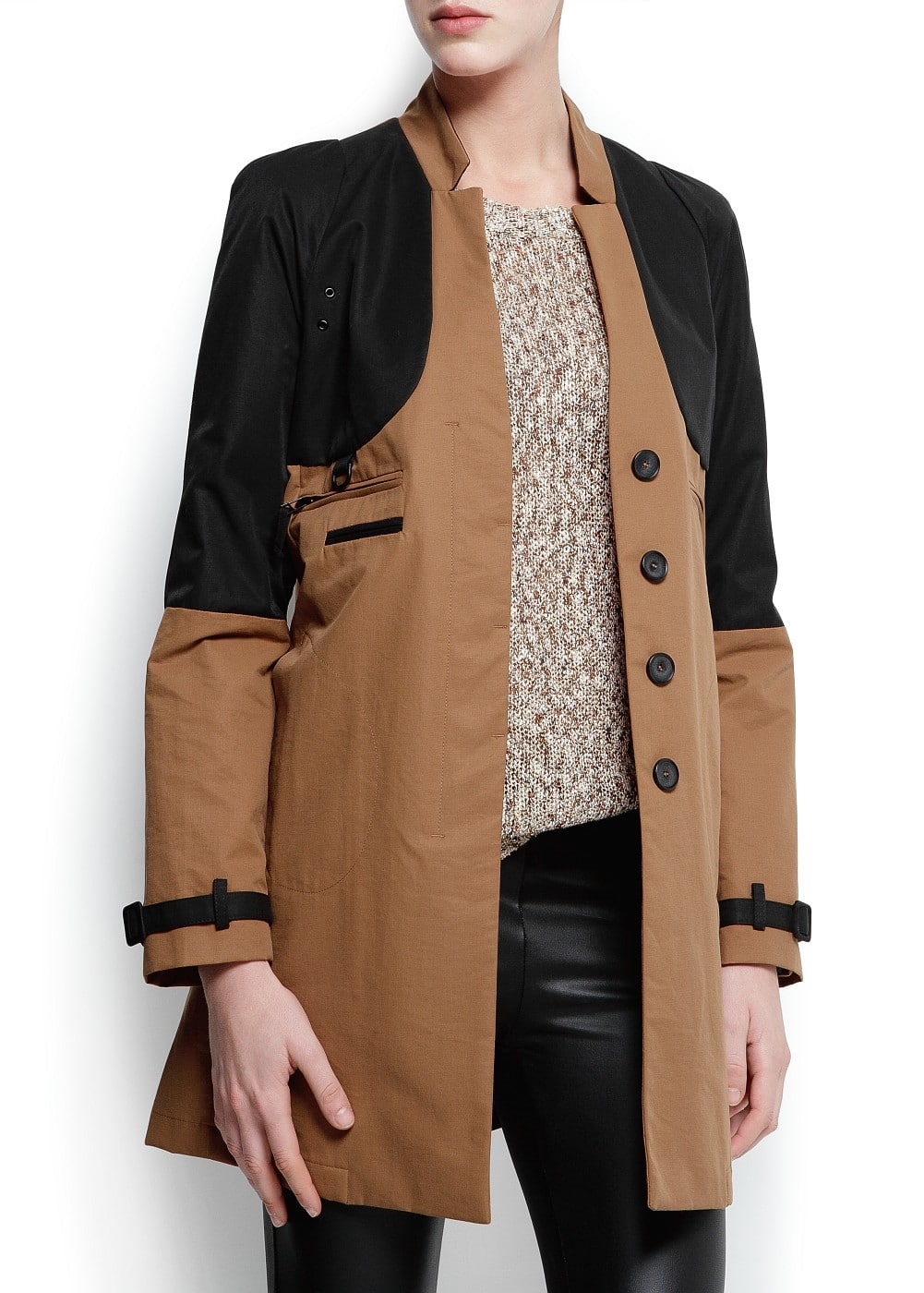 Two-tone duffle jacket | MANGO
