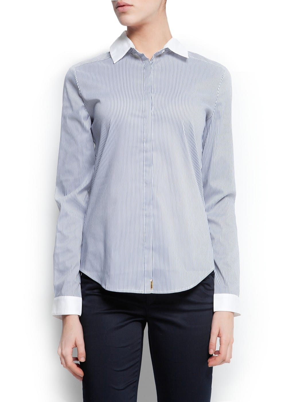Fitted striped shirt | MANGO