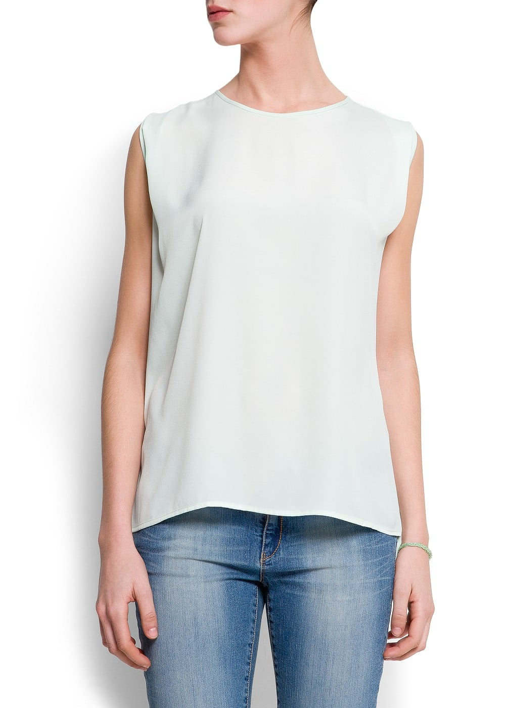 Oversized sleeveless top | MANGO