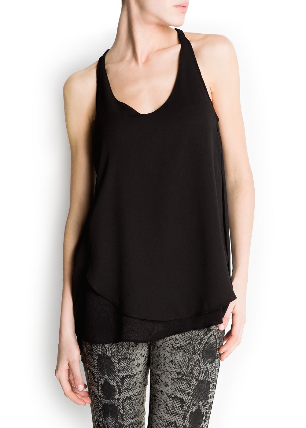 Double layer sheer top | MANGO