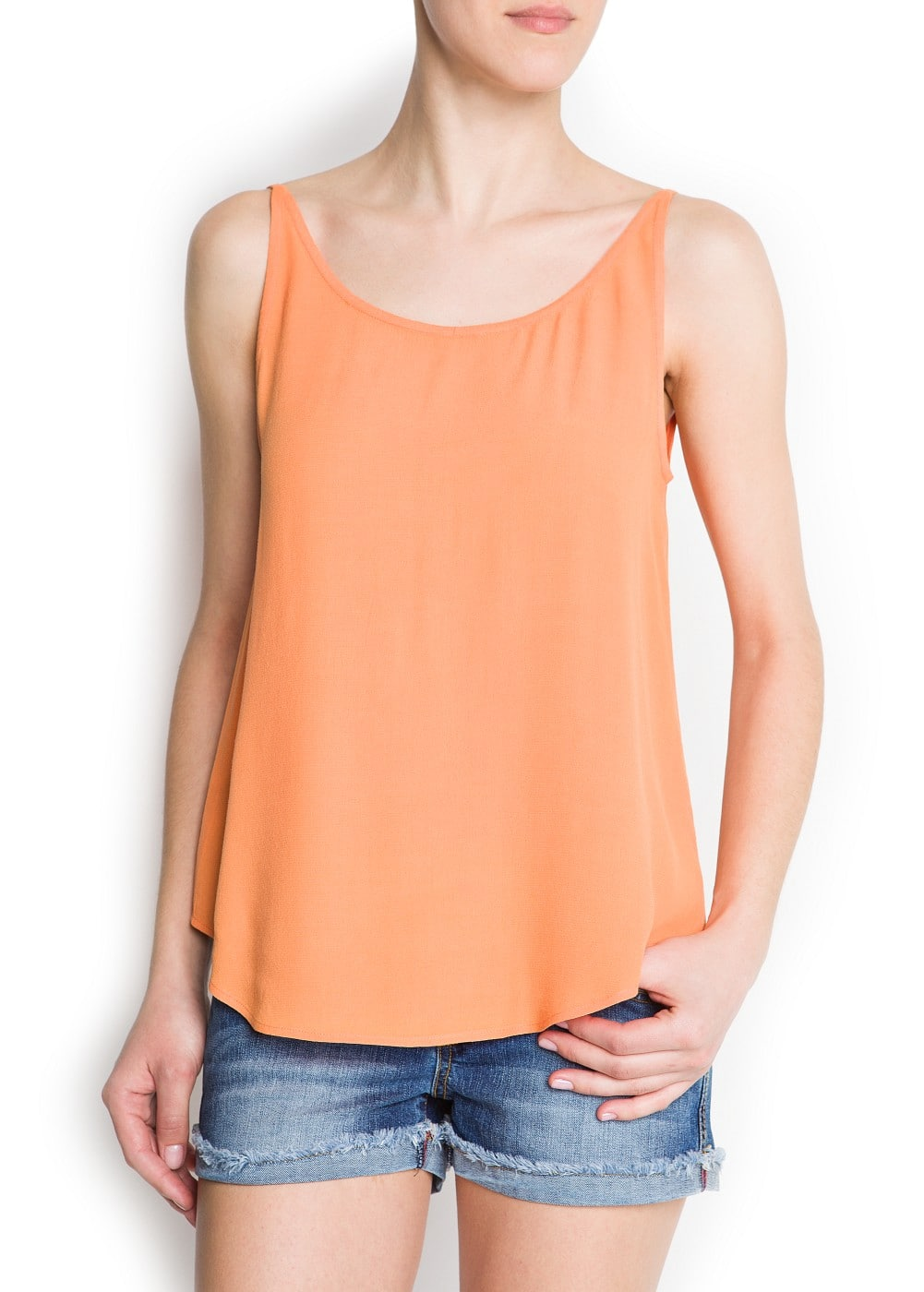 Scoop-back top | MANGO
