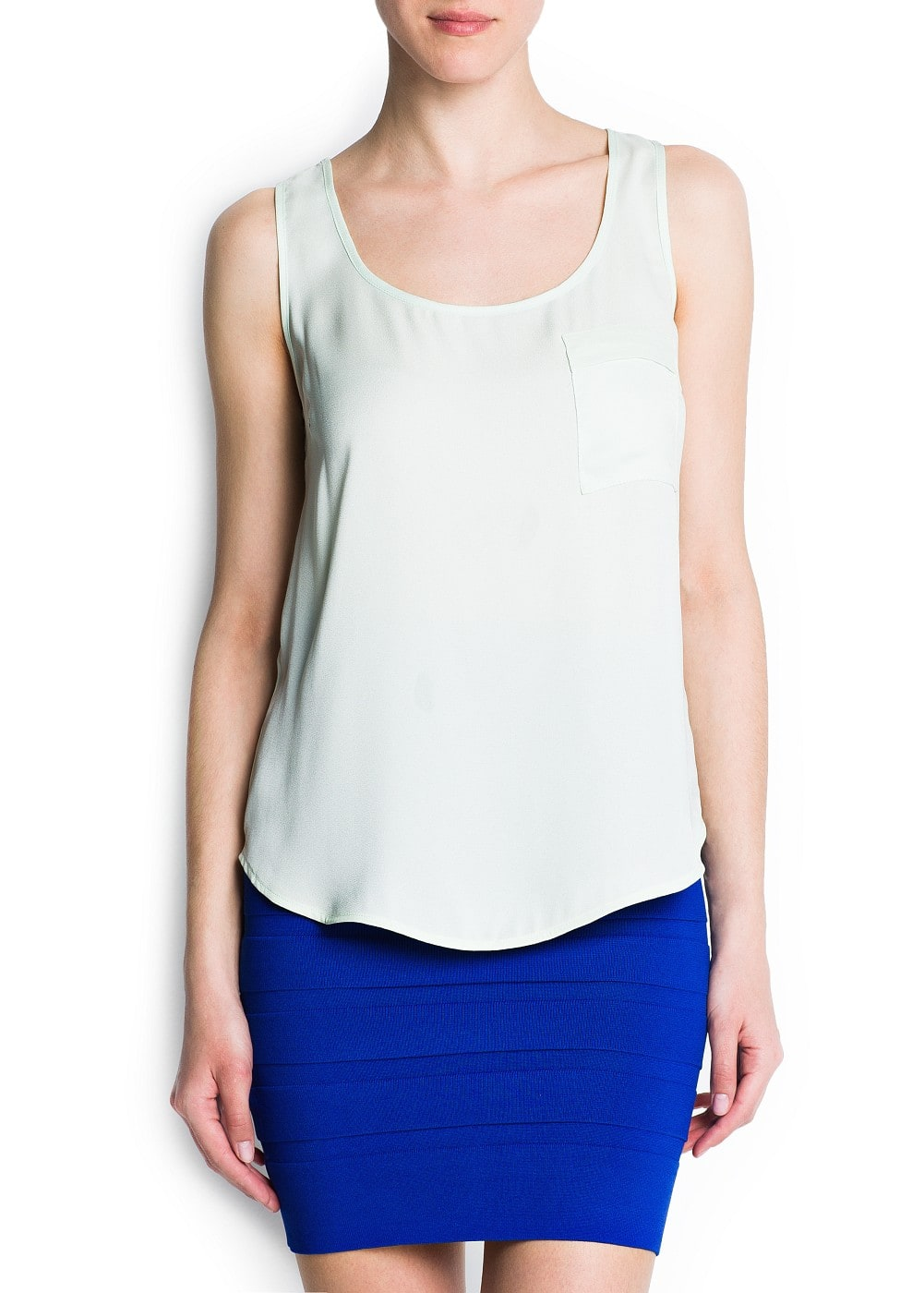 Flowy pocket top | MANGO