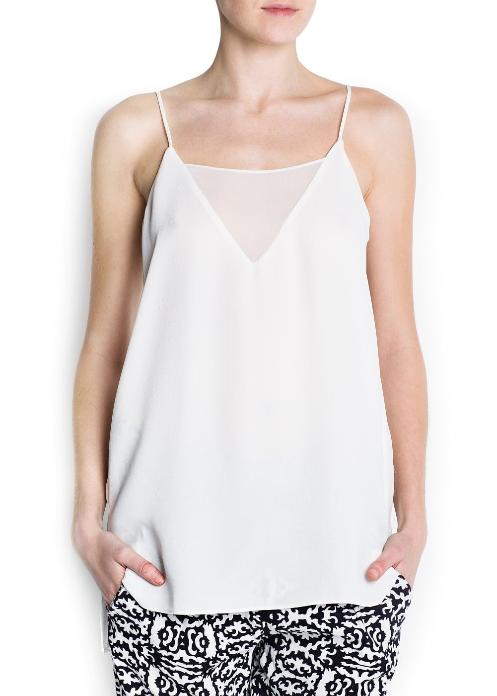 Asymmetric light top | MANGO