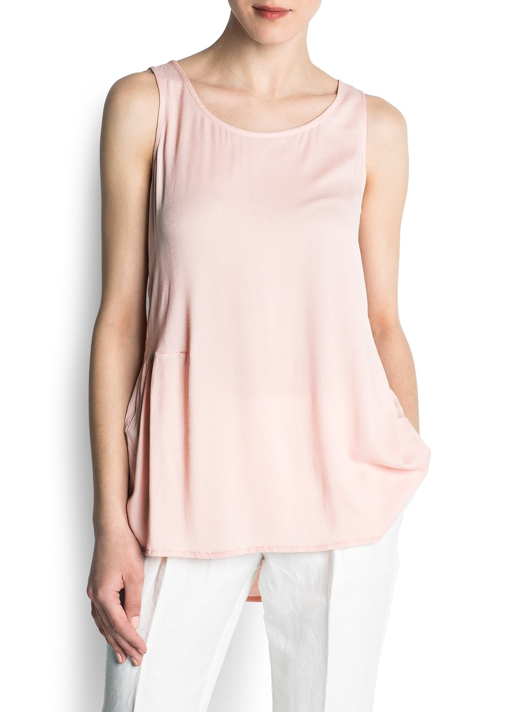 Back ruffle top | MANGO