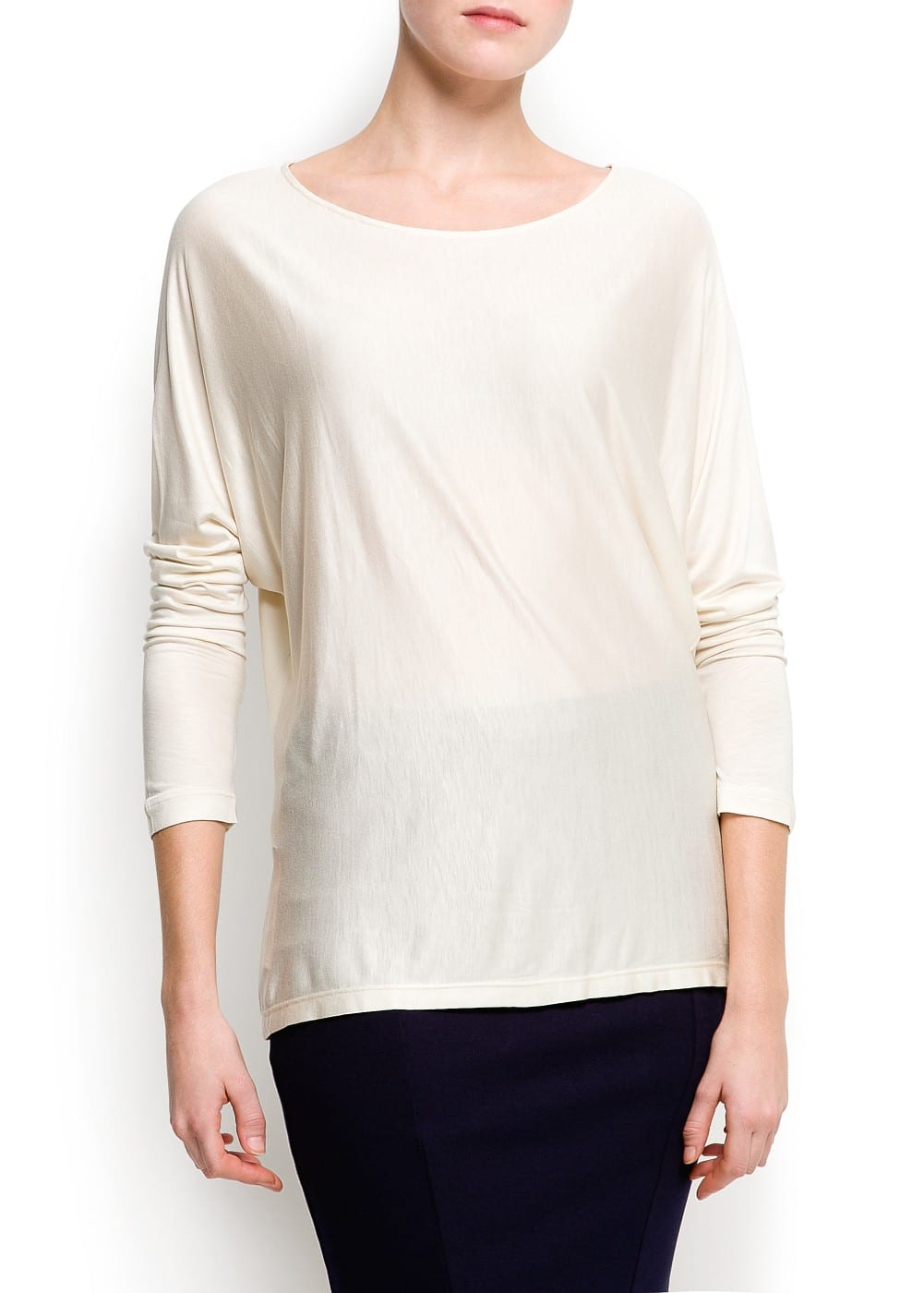 Sheer line t-shirt | MANGO