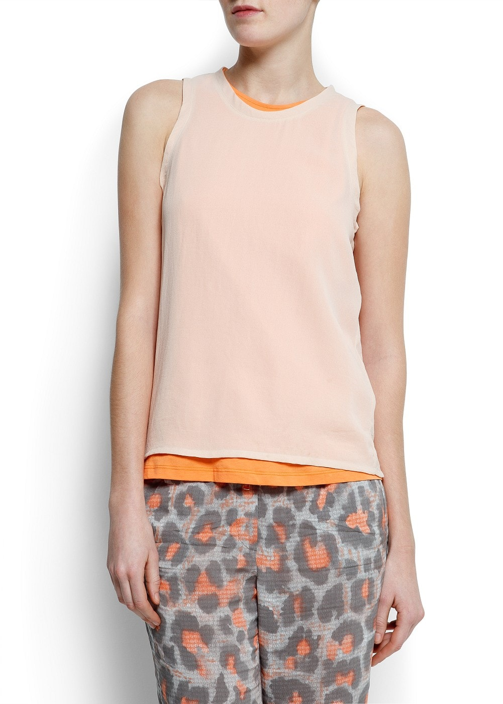 Double layer t-shirt | MANGO